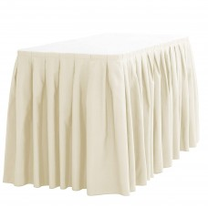 Table Skirting Ivory
