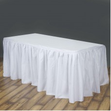 Table Skirting White